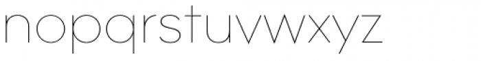 Contax Pro 25 UltraLight Font LOWERCASE