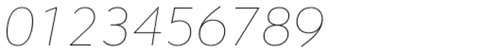 Contax Pro 26 UltraLight Italic Font OTHER CHARS