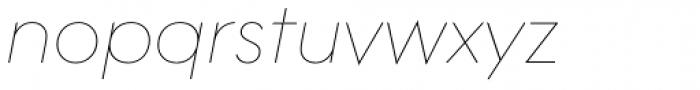 Contax Pro 26 UltraLight Italic Font LOWERCASE