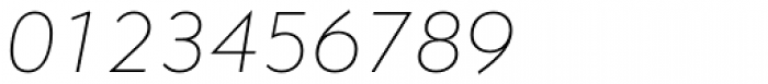 Contax Pro 36 Thin Italic Font OTHER CHARS