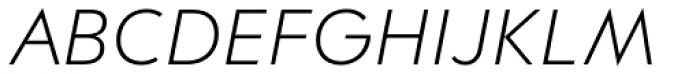 Contax Pro 46 Light Italic Font UPPERCASE