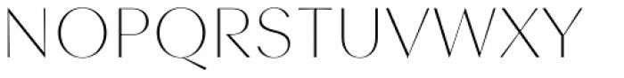 Contax Sans 25 UltraThin Font UPPERCASE
