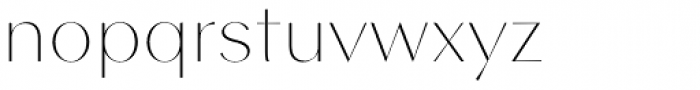 Contax Sans 25 UltraThin Font LOWERCASE