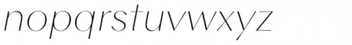 Contax Sans 26 UltraThin Italic Font LOWERCASE