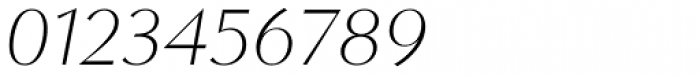 Contax Sans 36 Thin Italic Font OTHER CHARS