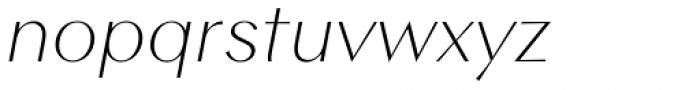 Contax Sans 36 Thin Italic Font LOWERCASE