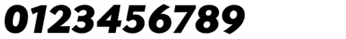 Contax Sans 96 UltraBlack Italic Font OTHER CHARS