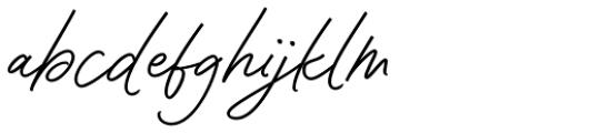 Contempora Script Bold Font LOWERCASE