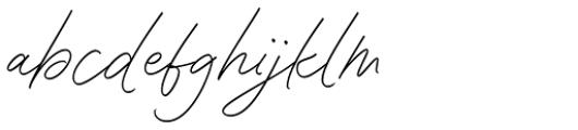 Contempora Script Regular Font LOWERCASE