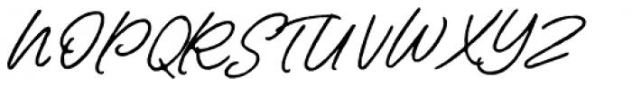 Contempora Script Rough Two  Font UPPERCASE