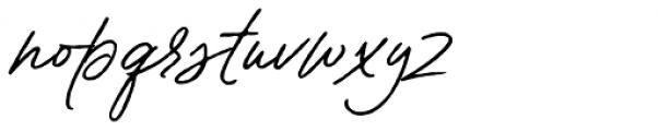 Contempora Script Rough Two  Font LOWERCASE
