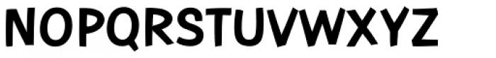 Contemporary Brush URW ExtraBold Font UPPERCASE