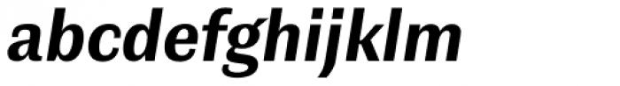 Contemporary Sans Bold Italic Font LOWERCASE