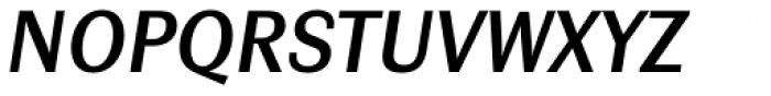 Contemporary Sans Demibold Italic Font UPPERCASE