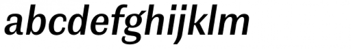 Contemporary Sans Demibold Italic Font LOWERCASE