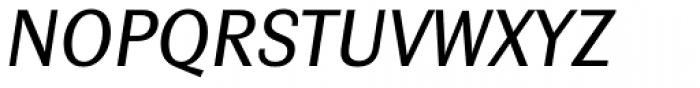 Contemporary Sans Regular Italic Font UPPERCASE