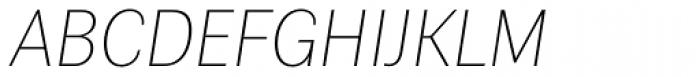 Contemporary Sans Thin Italic Font UPPERCASE