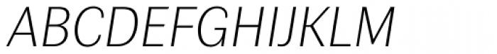Contemporary Sans Ultralight Italic Font UPPERCASE
