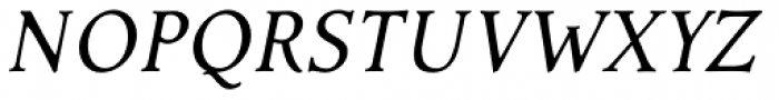Contenue EBook Italic Font UPPERCASE