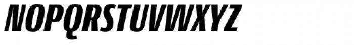 Conto Compressed Black Italic Font UPPERCASE
