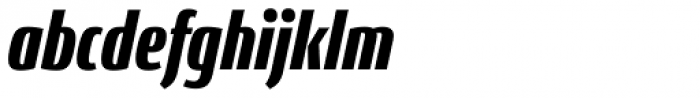 Conto Compressed Black Italic Font LOWERCASE