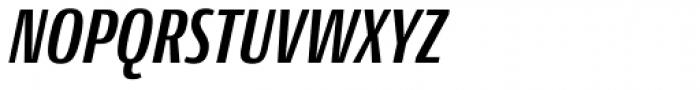 Conto Compressed Bold Italic Font UPPERCASE