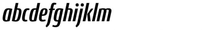 Conto Compressed Bold Italic Font LOWERCASE
