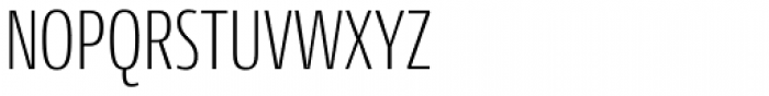 Conto Compressed ExtraLight Font UPPERCASE