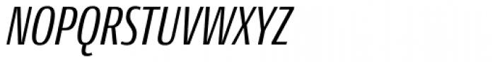Conto Compressed Italic Font UPPERCASE