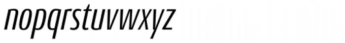 Conto Compressed Italic Font LOWERCASE