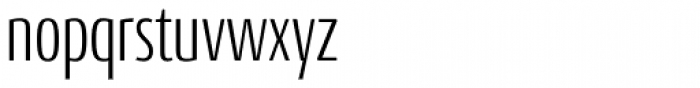 Conto Compressed Light Font LOWERCASE