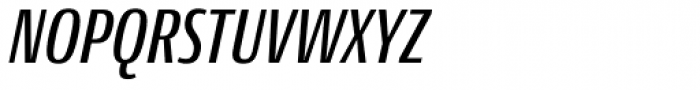 Conto Compressed Medium Italic Font UPPERCASE