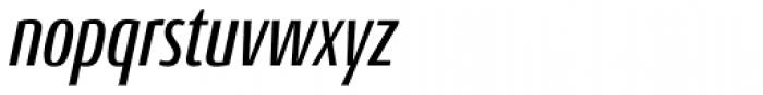 Conto Compressed Medium Italic Font LOWERCASE
