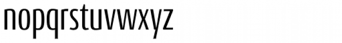Conto Compressed Regular Font LOWERCASE