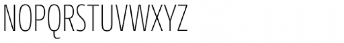 Conto Compressed Thin Font UPPERCASE