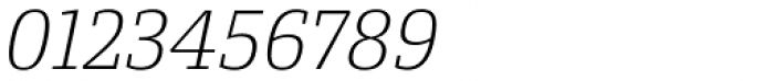 Conto Slab ExtraLight Italic Font OTHER CHARS