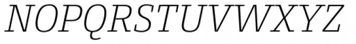 Conto Slab ExtraLight Italic Font UPPERCASE