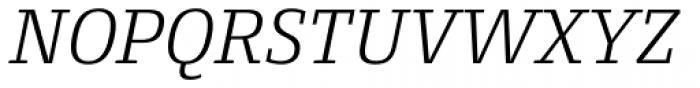 Conto Slab Light Italic Font UPPERCASE