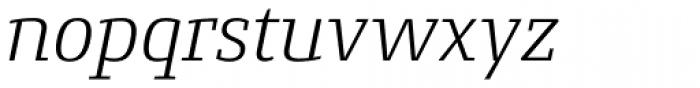 Conto Slab Light Italic Font LOWERCASE