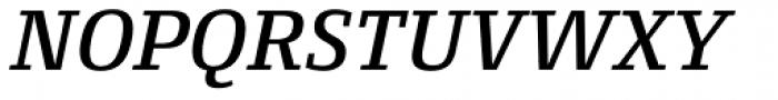 Conto Slab Medium Italic Font UPPERCASE