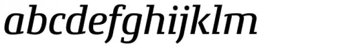 Conto Slab Medium Italic Font LOWERCASE