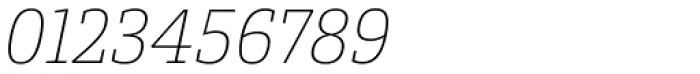 Conto Slab Thin Italic Font OTHER CHARS