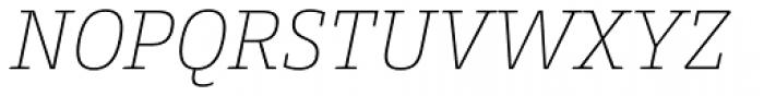 Conto Slab Thin Italic Font UPPERCASE