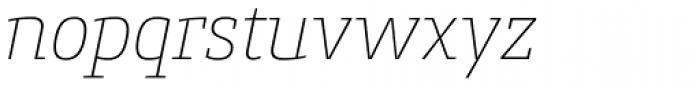 Conto Slab Thin Italic Font LOWERCASE