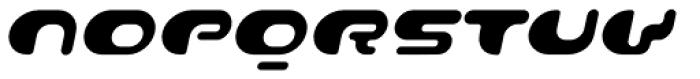 Contour Italic Font UPPERCASE