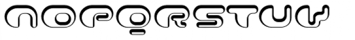 Contour Shaded Font LOWERCASE