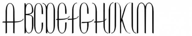 Contouration Expanded Font UPPERCASE