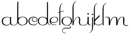 Contouration Expanded Font LOWERCASE