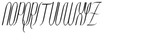 Contouration Italic Font UPPERCASE
