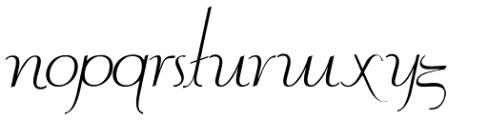 Contouration Italic Font LOWERCASE